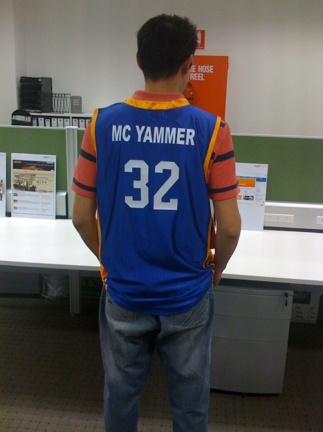MC Yammer - basketball singlet